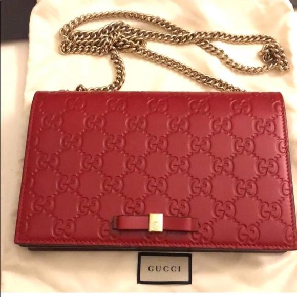 7d64c64ac85f7e Gucci Bags | Mini Signature Bag Red | Poshmark
